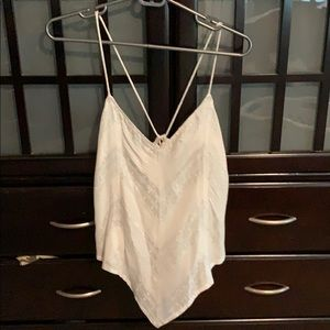 Guess strappy white and silver shirt size XS